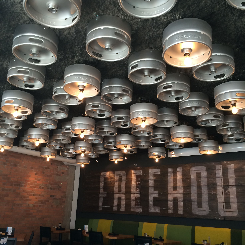 Keg lighting Freehouse Mpls Decoration Details
