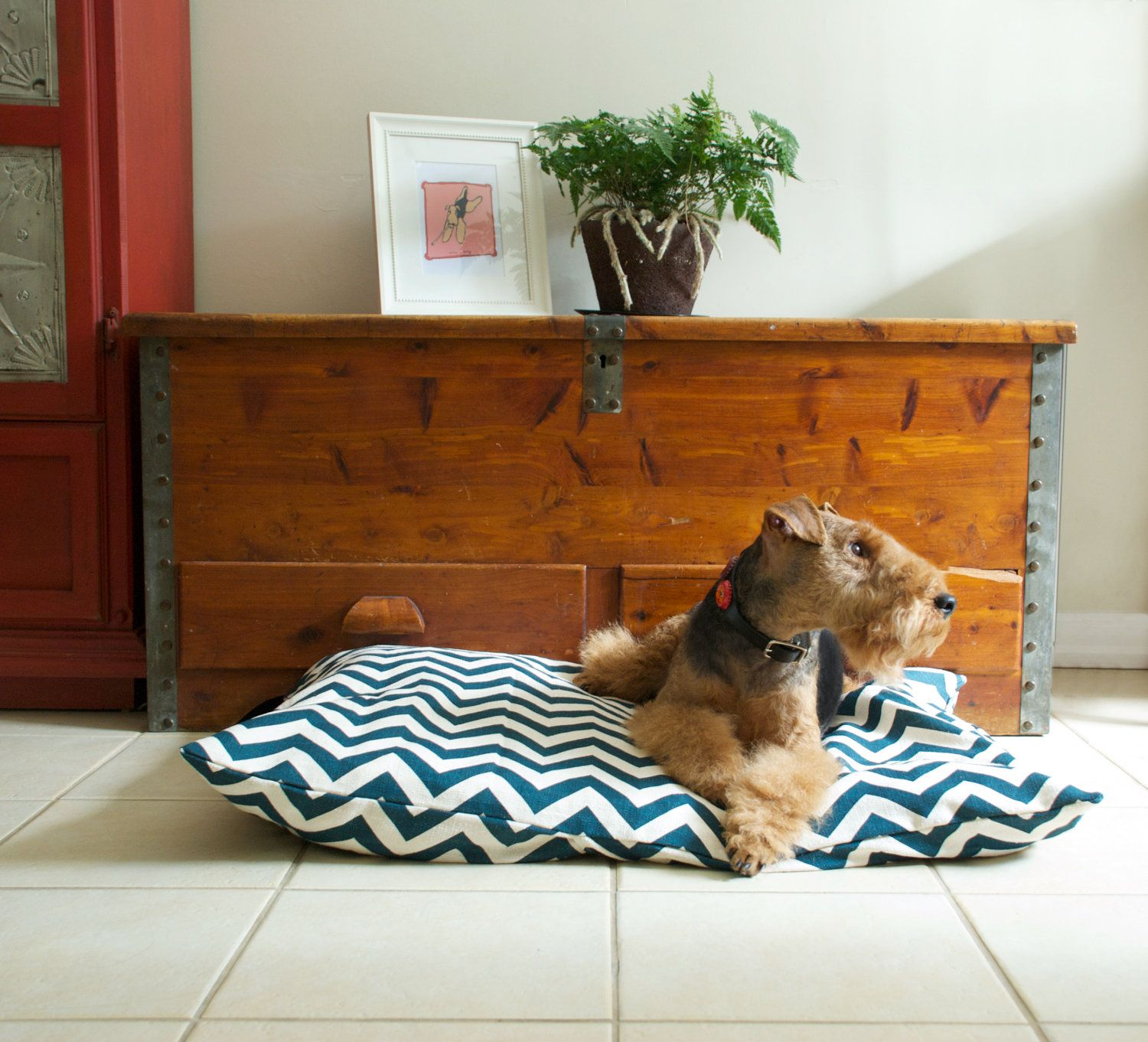 Dog Bed Chevron/Zig Zag Pet Duvet Cover. Just bought this