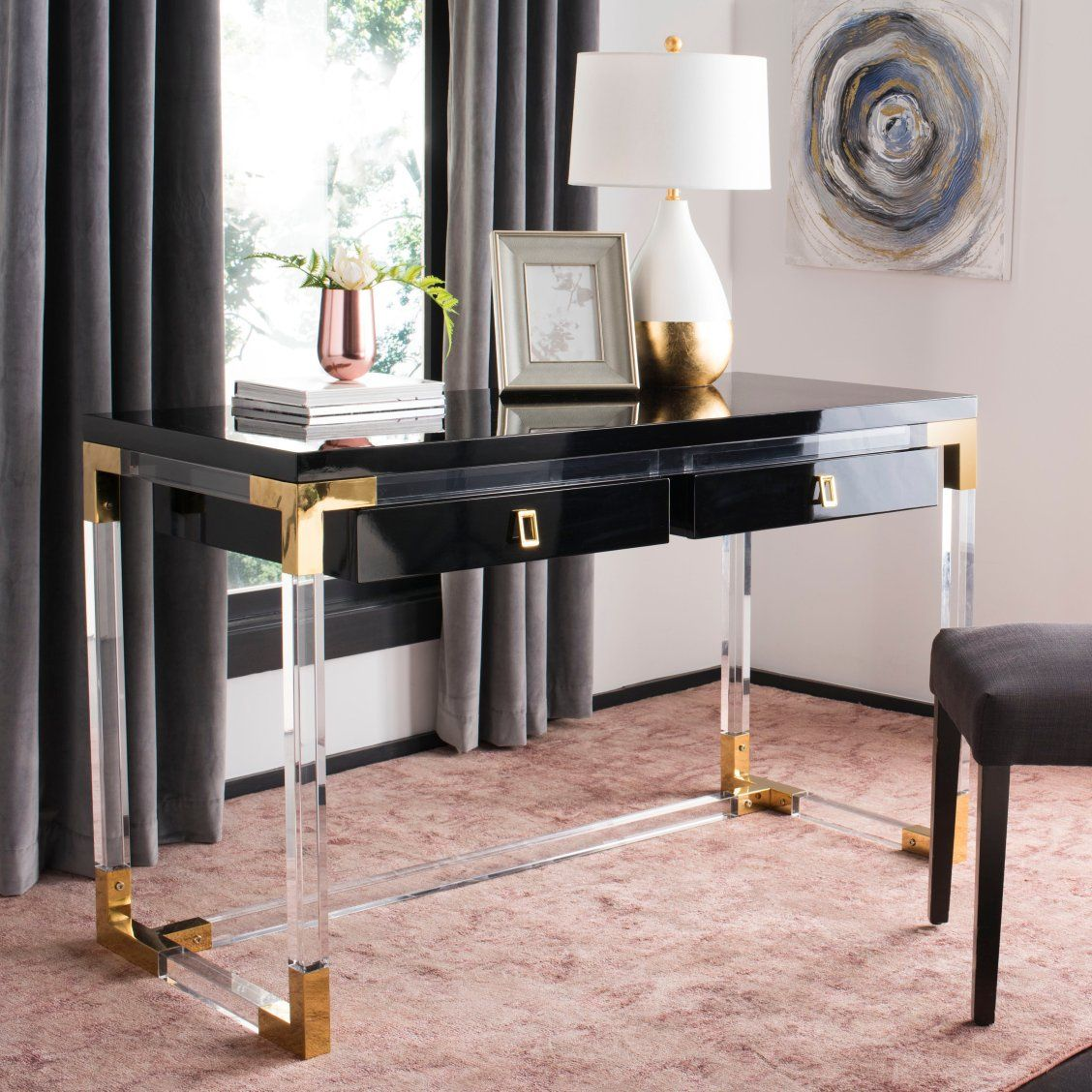 Ethereal And Extravagant This Contemporary Acrylic Desk Adds