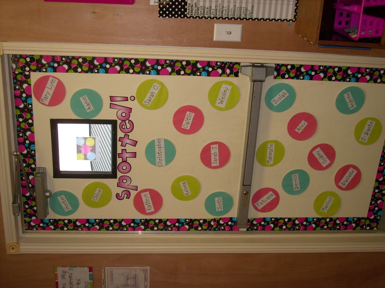 Polka Dot Bulletin Board Or Door Decor