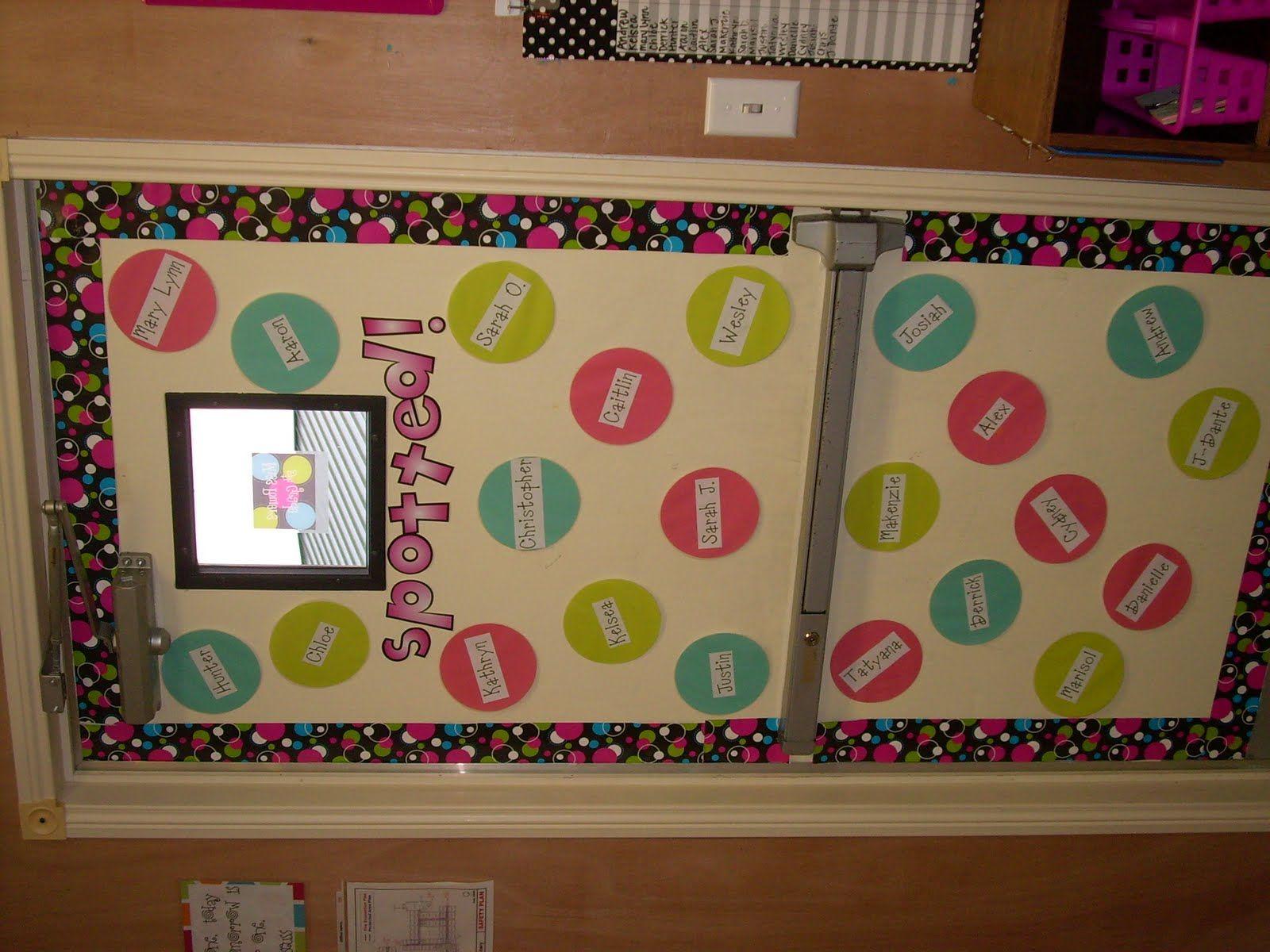 Classroom Decor Polka Dots ~ Polka dot bulletin board or door decor classroom