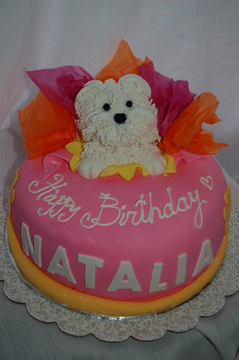 Admirable Maltese Dog Cakes And Cupcakes Designs Puppy Cake Dog Cakes Personalised Birthday Cards Veneteletsinfo
