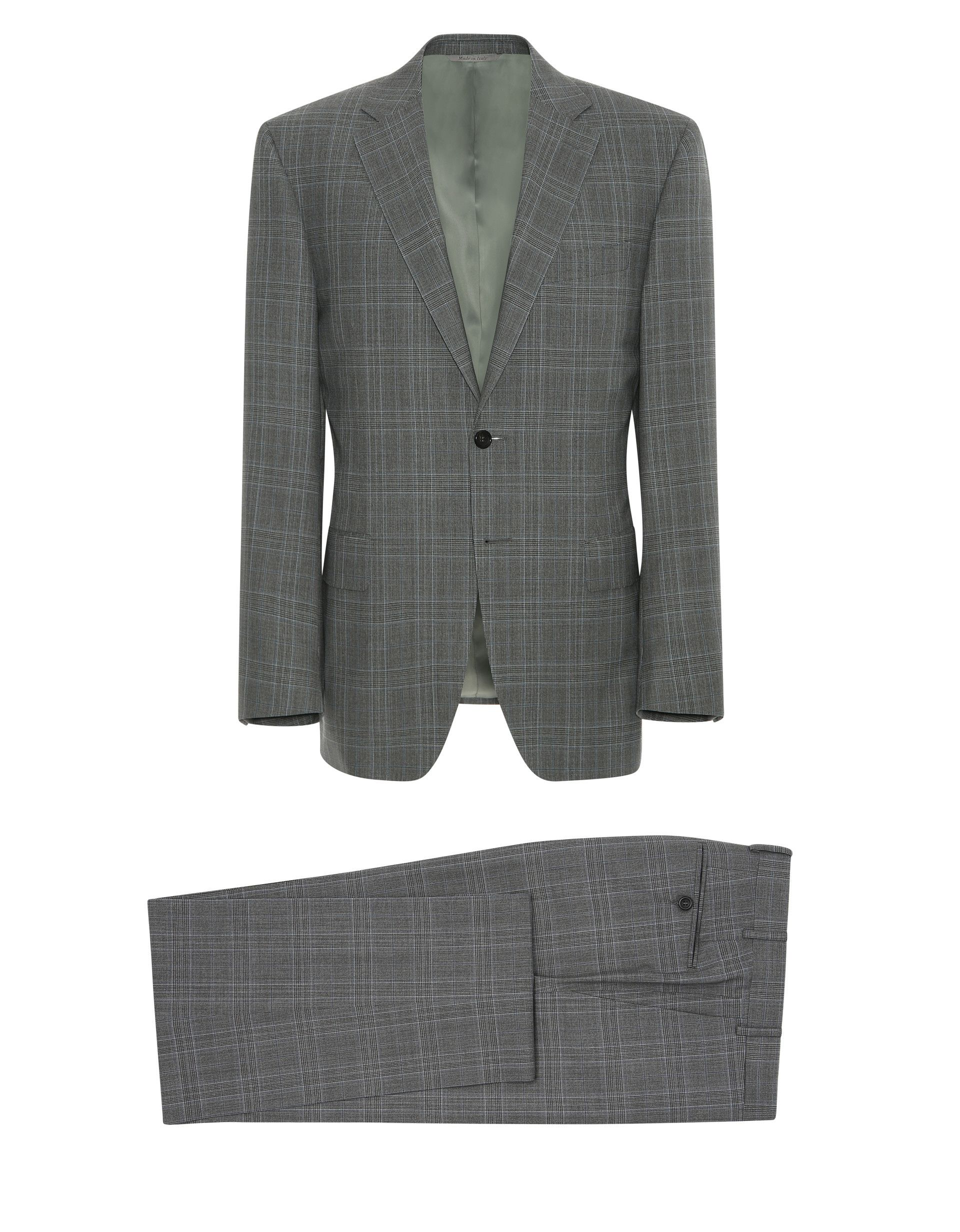 85385b154c5 Dark gray Impeccabile wool Prince of Wales check Siena suit for men | Shop  on Canali.com