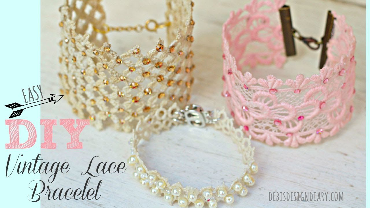 This Quick And Easy Diy Shows You How To Starch Or Stiffen Lace With Elmers Glue To Create Beautiful Jewelry This Diy Lace Jewelry Lace Jewelry Lace Bracelet