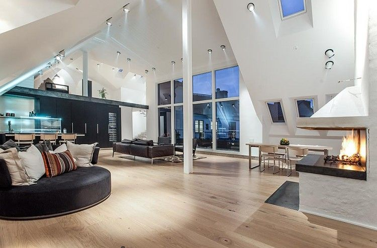 Unique Modern Penthouse In Sweden Idea