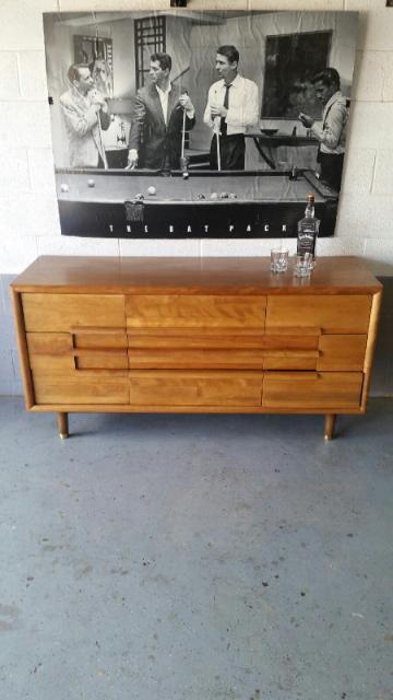California Furniture Guild 9 Drawer Dresser Circa 1960