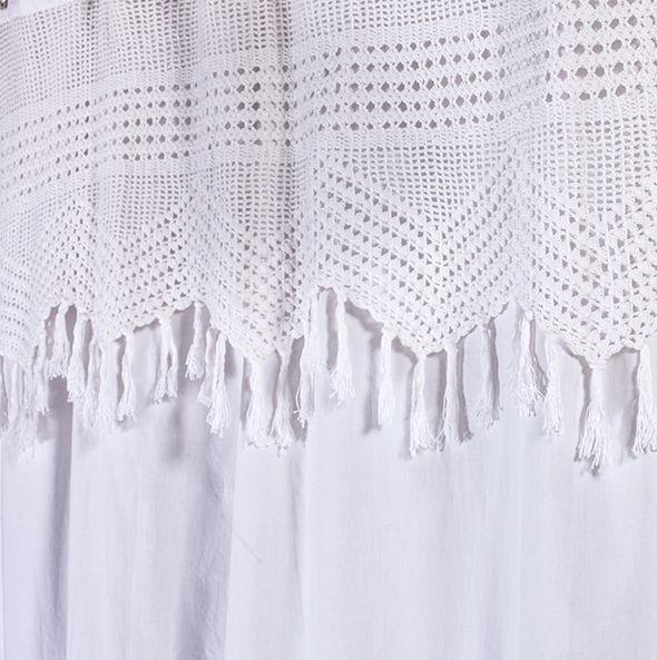 Vintage Crochet Shower Curtain | PATRONES DE GANCHILLO | Pinterest ...
