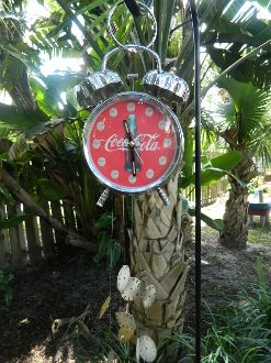 Wind Chime from coca cola clock and vintage watch faces.
