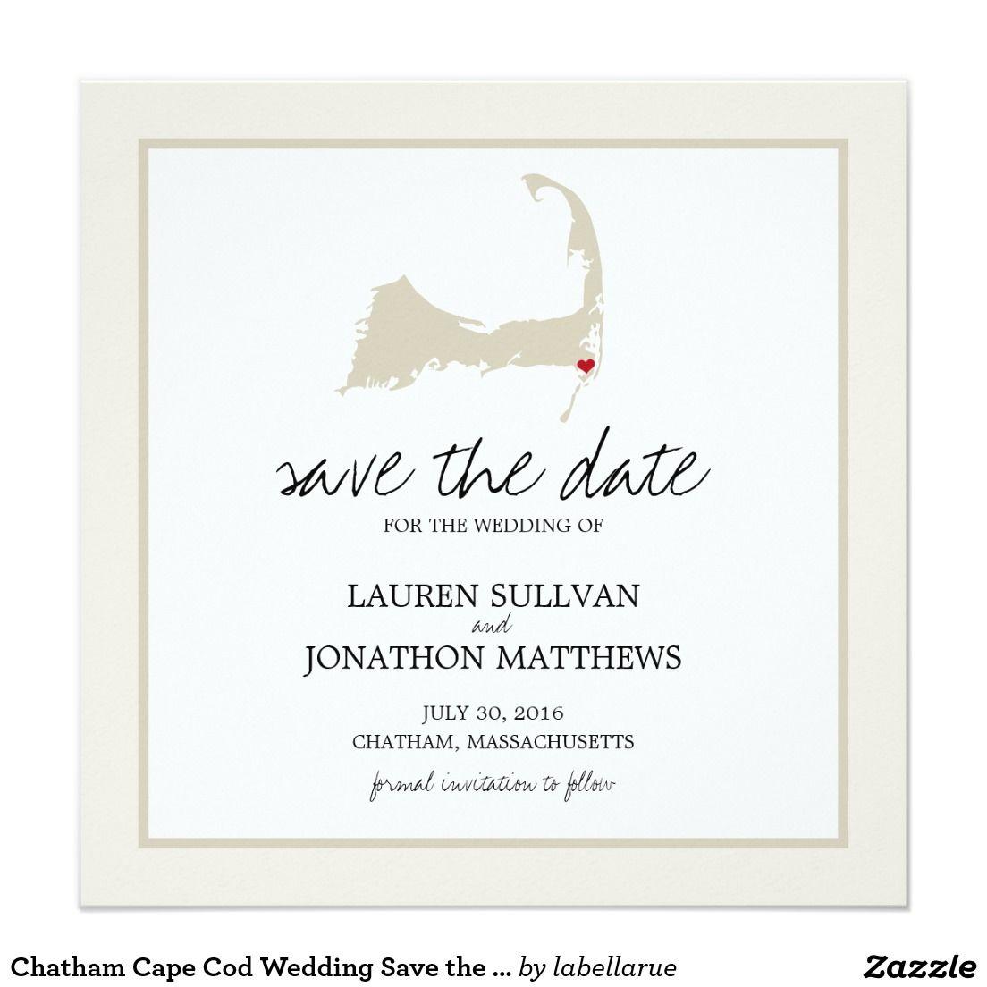 Chatham Cape Cod Wedding Save the Date Invitation | Wedding ideas ...