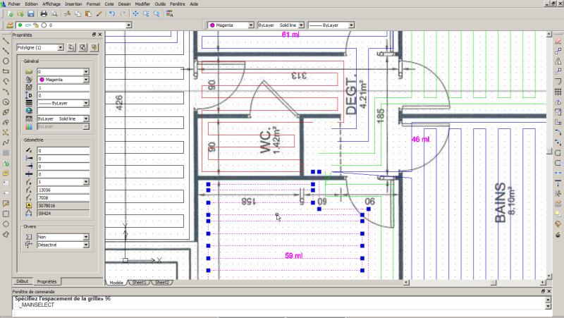 Guide du logiciel de calepinage pour plancher chauffant sec et mince et plafond chauffant - Calepinage salle de bain ...