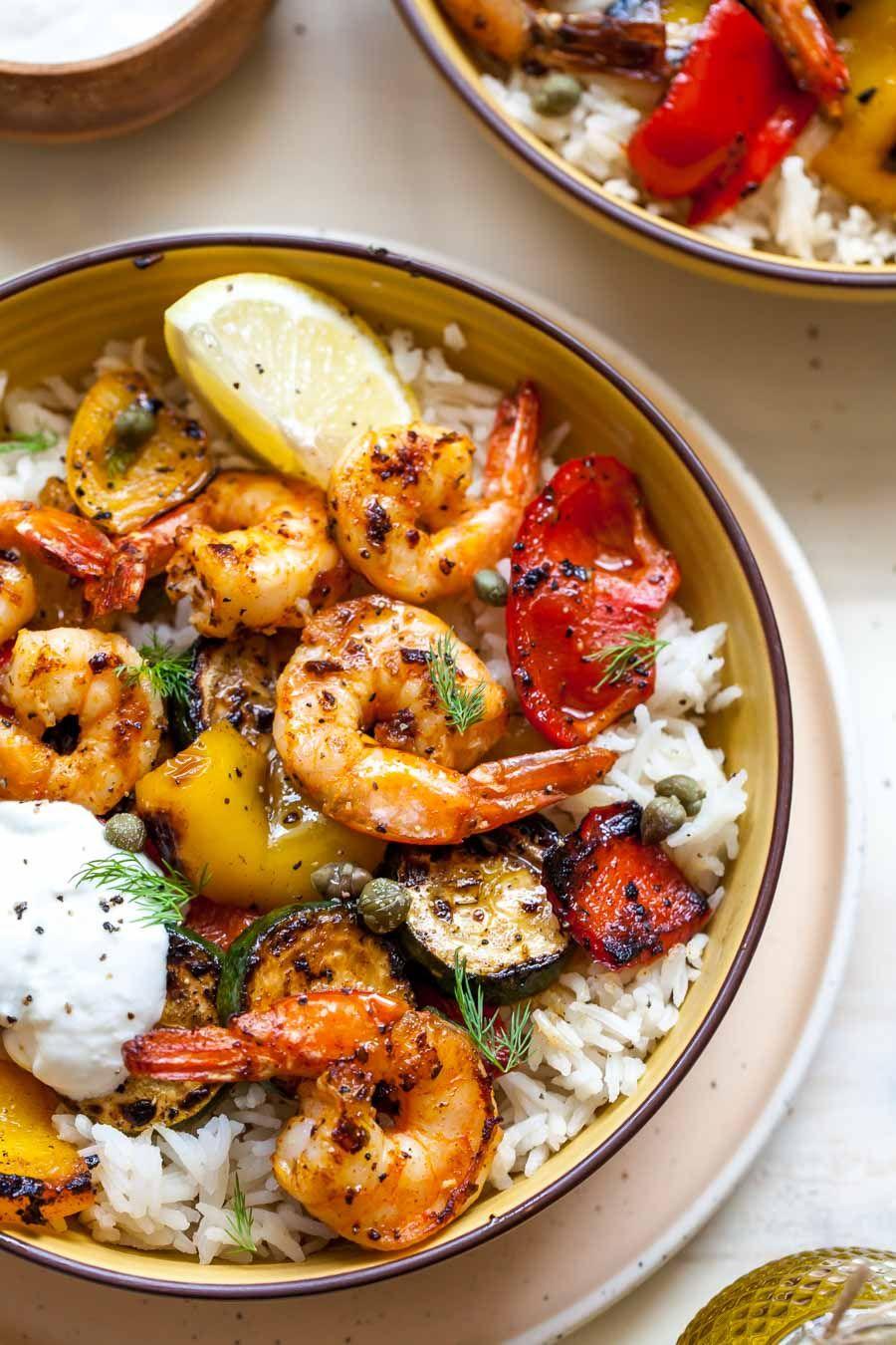 Photo of 30 Minute Greek Shrimp Grain Bowls
