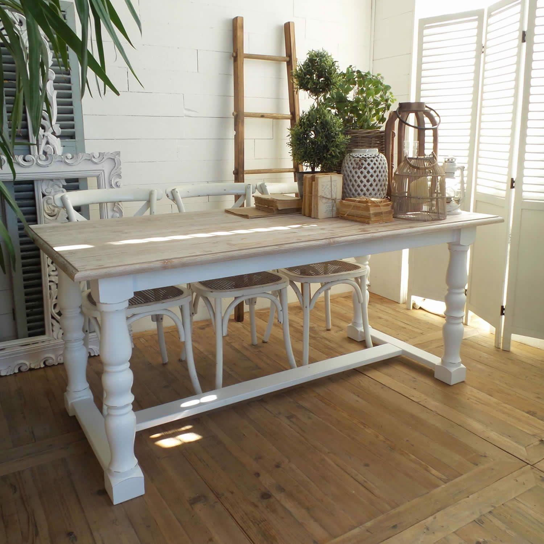 Tavolo Legno Bianco Anticato.Acquista Online Il Tavolo Rettangolare Midtown Park Di