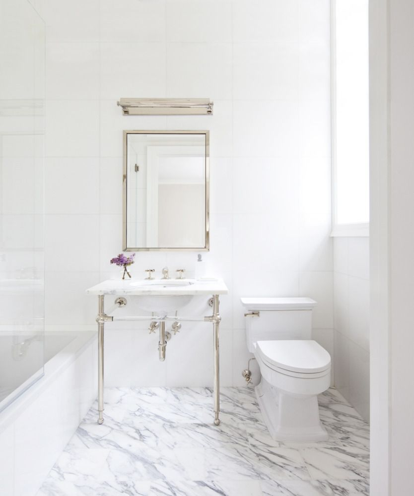 Learn How To Master The Perfect White Marble Bathroom On Domino
