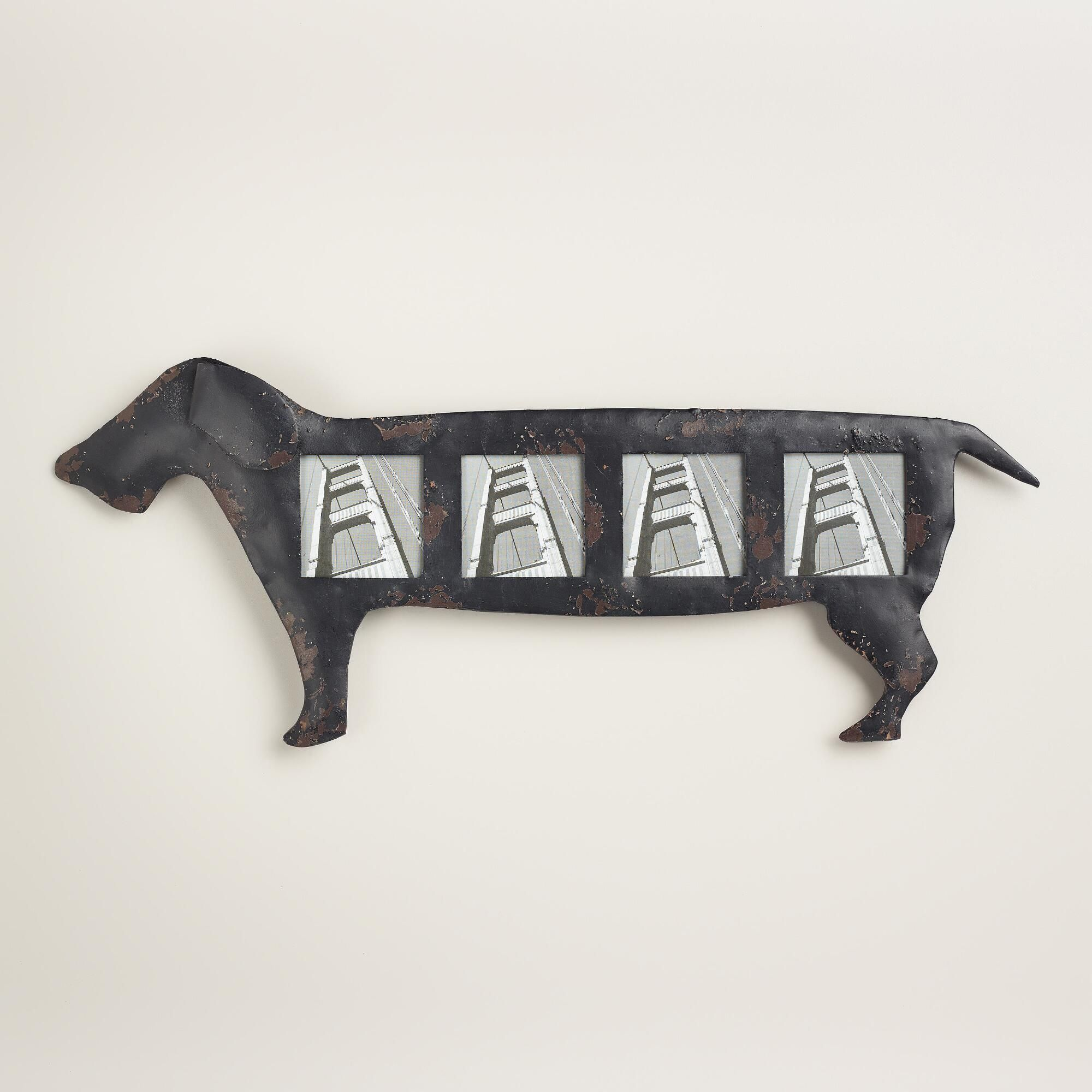 Dachshund Home Decor Black Dachshund 4 Photo Frame Metals Home And Pets