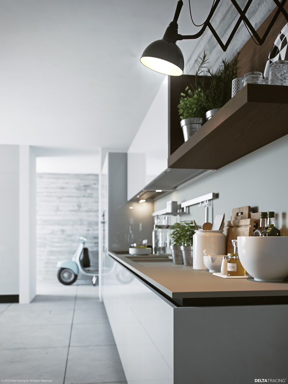 kitchen designs by delta. These kitchen visualizations  by Deltatracing covers a plethora of layouts not only floor plan but including creative use wall cabinets for VrayWorld Delta Tracing render design Pinterest Studio
