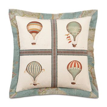 Eastern Accents Kai Hand Painted Baloons Flange Decorative Pillow