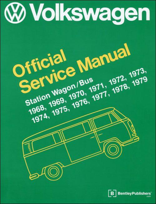 Front Cover Vw Volkswagen Repair Manual Station Wagon Bus Type 2 1968 197 Vw Vocho Volkswagen Vocho