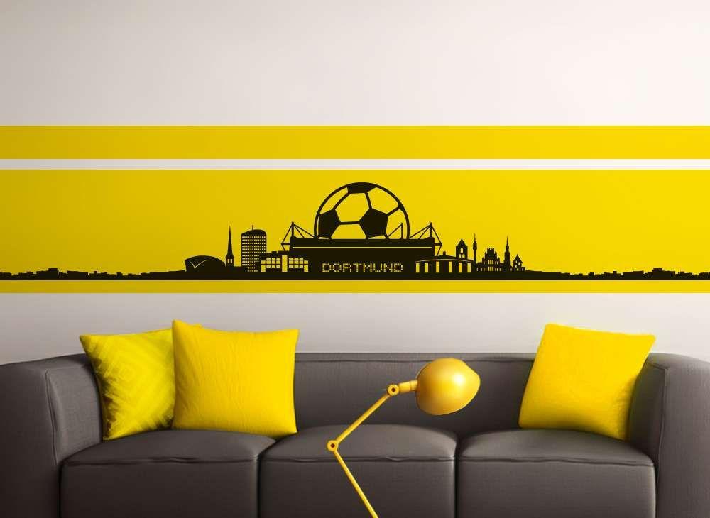Superb Wandtattoo Dortmund Skyline Fu ball Fan W