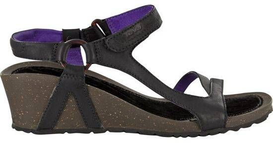d1f4cd18fe20 Teva Women Cabrillo Universal Wedge Leather Wedges in Black Purple ...
