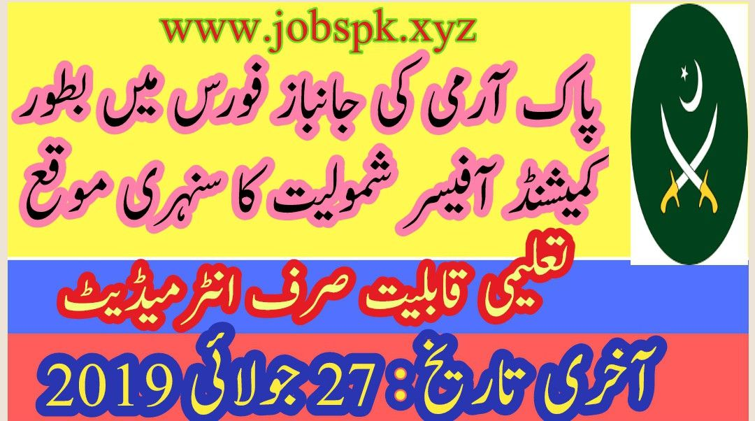 Join Pak Army 2019 In Janbaz Force ( 31 Corps) As