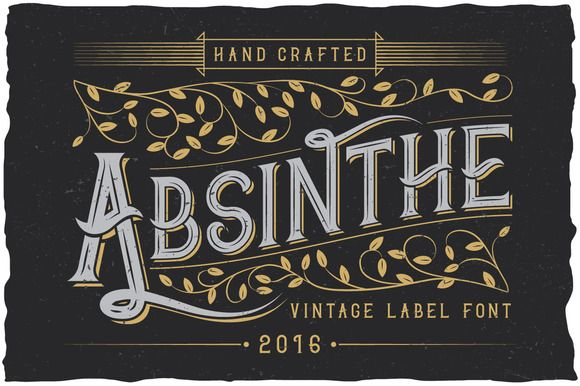 @newkoko2020 Absinthe label typeface by Vozzy on @creativemarket #font #fonts #scriptfont #script #calligraphy #branding #quality #buy #discount