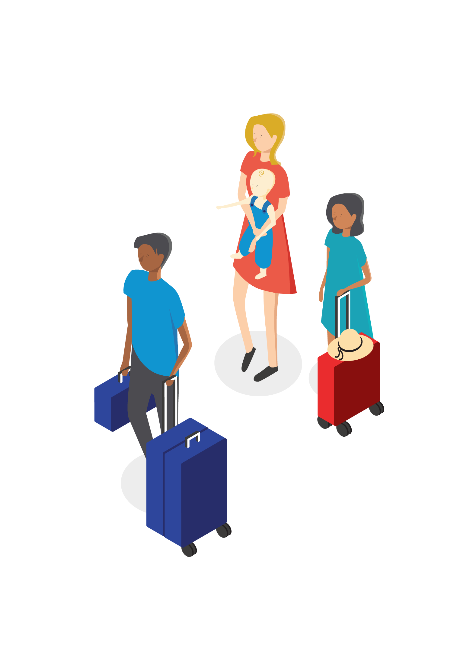 Isometric Vector Family Traveling Illustration Isometric Isometric Illustration Illustration