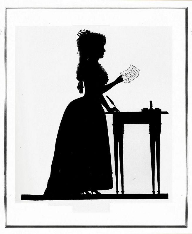 Die Goethezeit in Silhouetten 1911, Henriette von Knebel ill  12