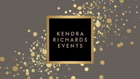 Faux gold confetti on modern gray events planning business cards girly event planning business cards page 1 business card designbusiness cardsscript reheart Image collections