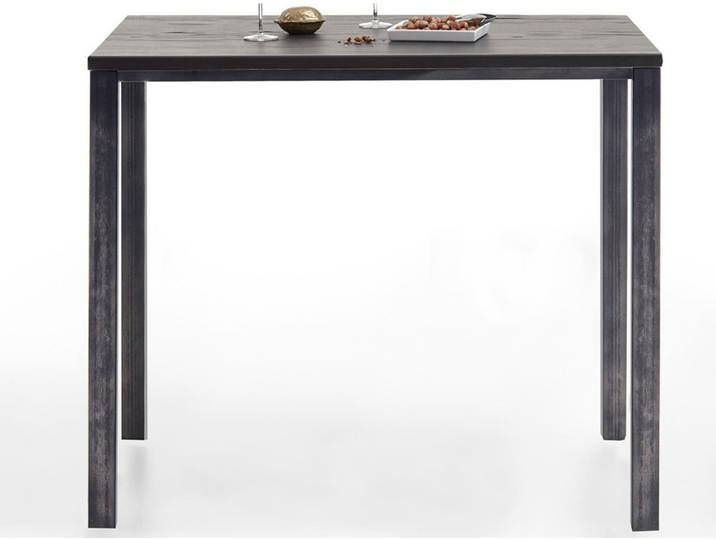 Photo of Bodahl Bar & Kitchen Table Rustic Oak Cannes 80x140x76 cm / Mocca black