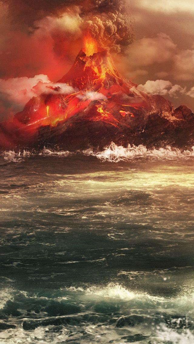 Volcano Iphone Wallpapers Volcano Nature Amazing Nature