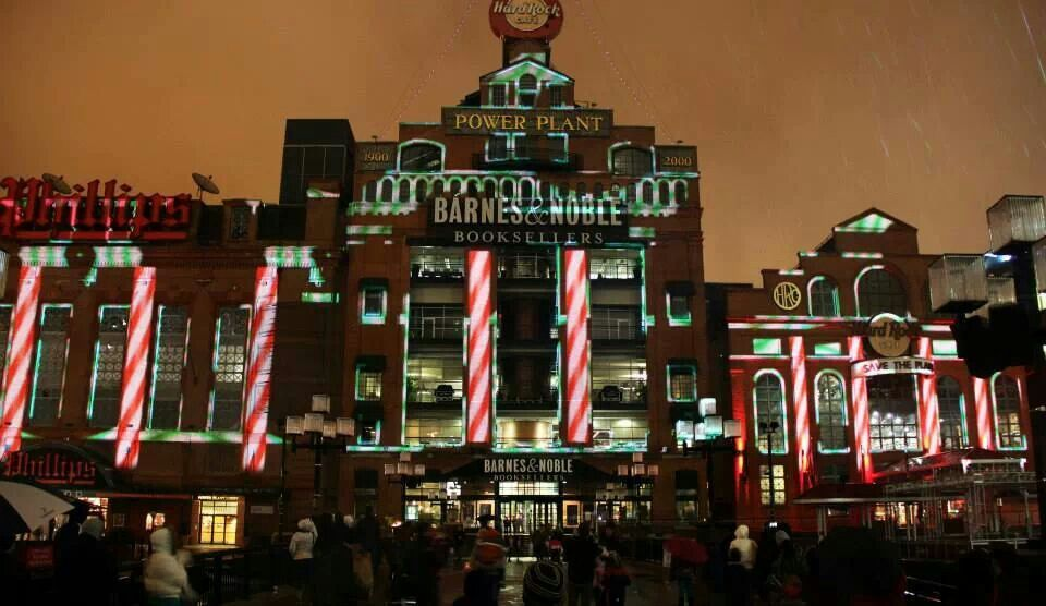 New Years Eve Light Show in Baltimore Commercial