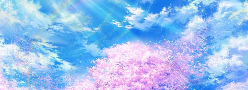 Anime fantasy sky background banner in 2020 background