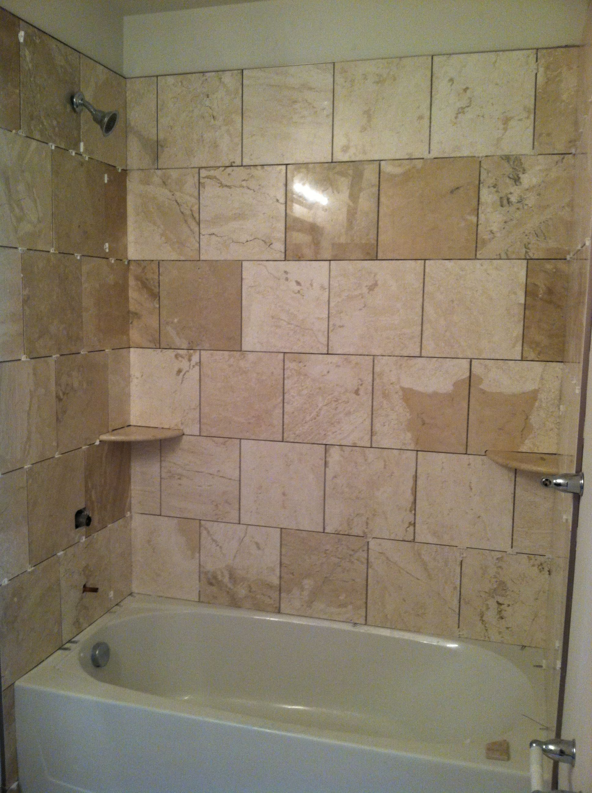 Lush Wall Decoration With Stylish Shower Tile