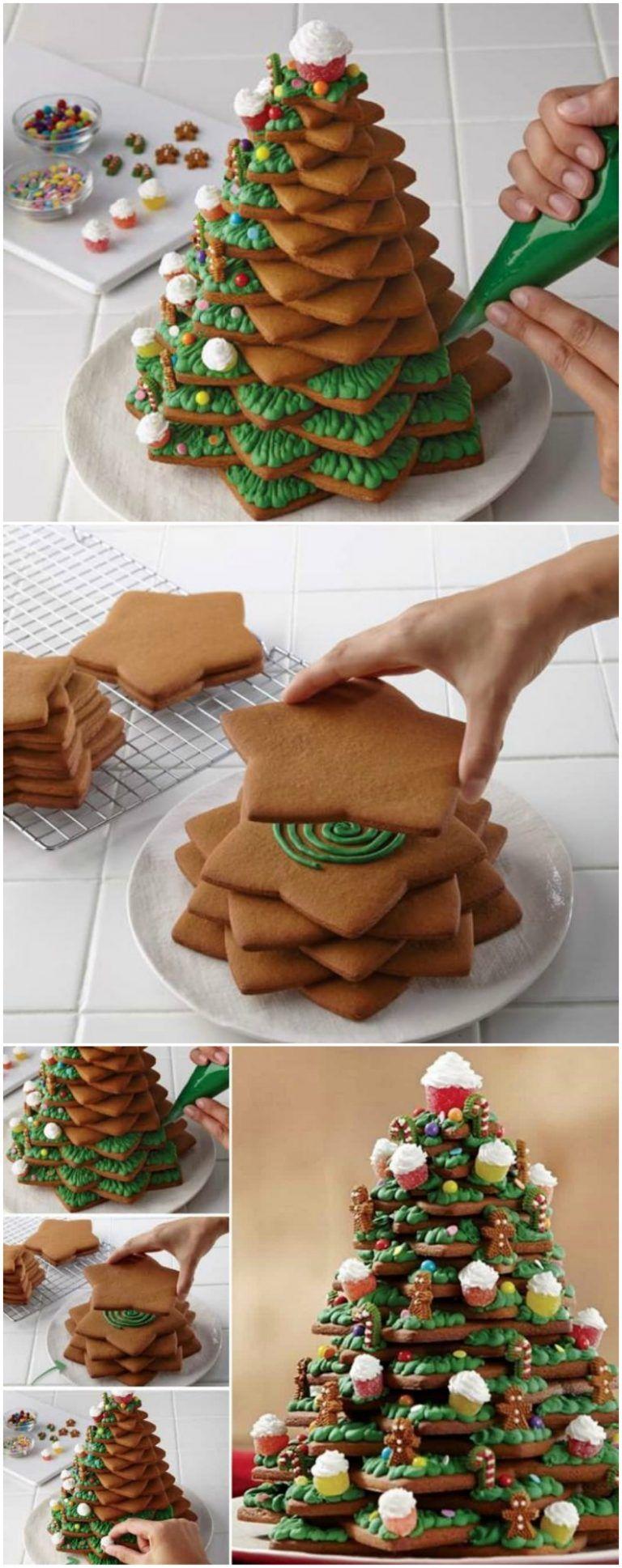 Wie Man Einen Erstaunlichen 3D Cookie Weihnachtsbaum Macht - Gesundes Essen #christmasbakingideas