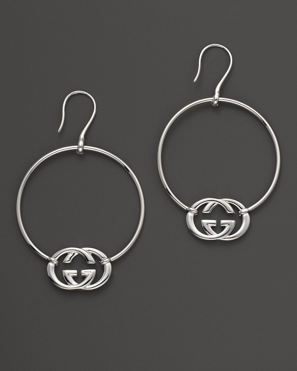 Gucci Sterling Silver Britt Hoop Earrings Bloomingdale S Online Earrings Earrings Hoop Earrings