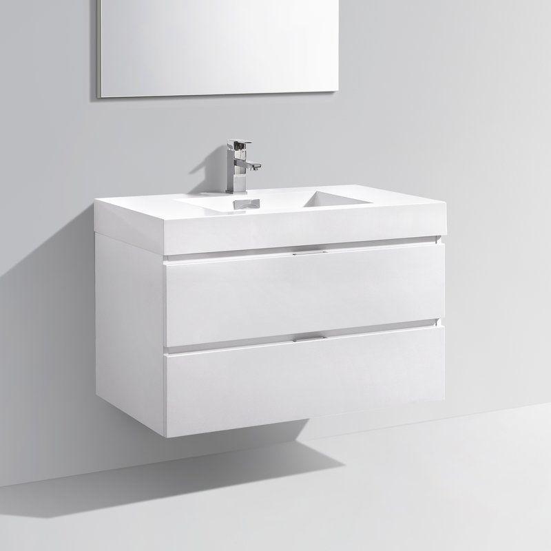 Tenafly 36 Quot Single Wall Mount Bathroom Vanity Set Blake