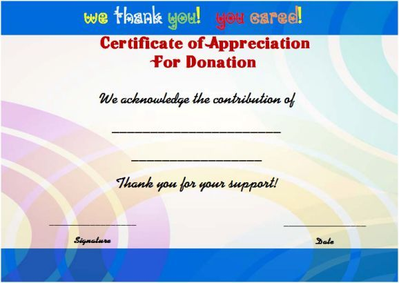fundraising thank you certificate template Thank you certificates - thank you certificate template