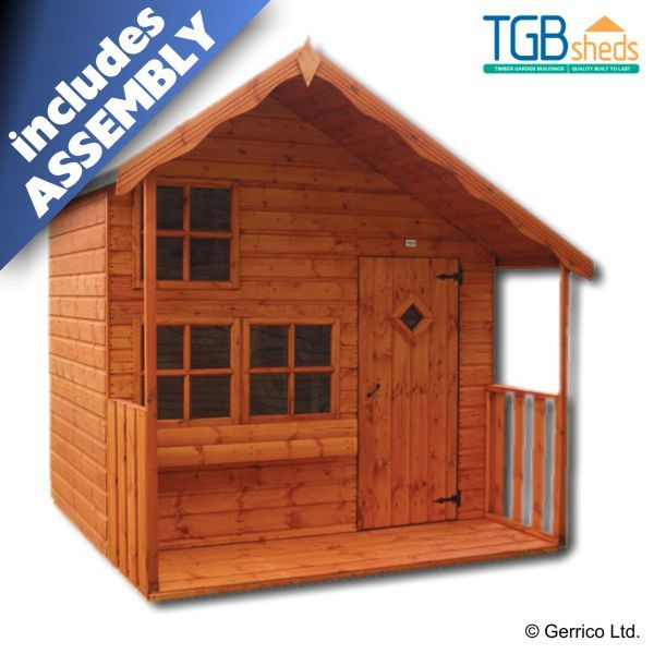 Tgb Sheds Wilton Lodge Playhouse Free Delivery Assembly Quality Wooden Play House 15 Year Warranty
