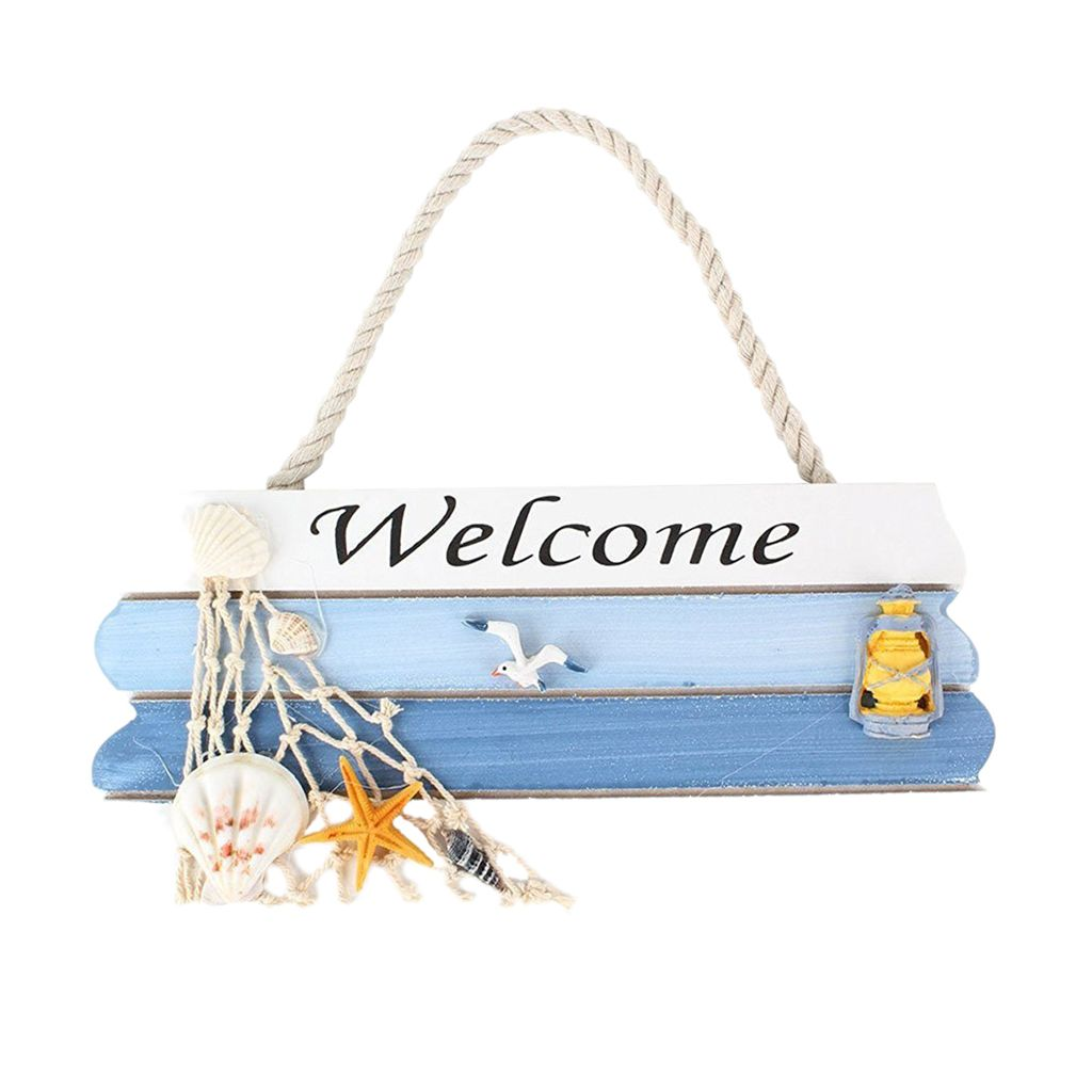 Nautical Wooden Beach Welcome Hanging Home Shop …