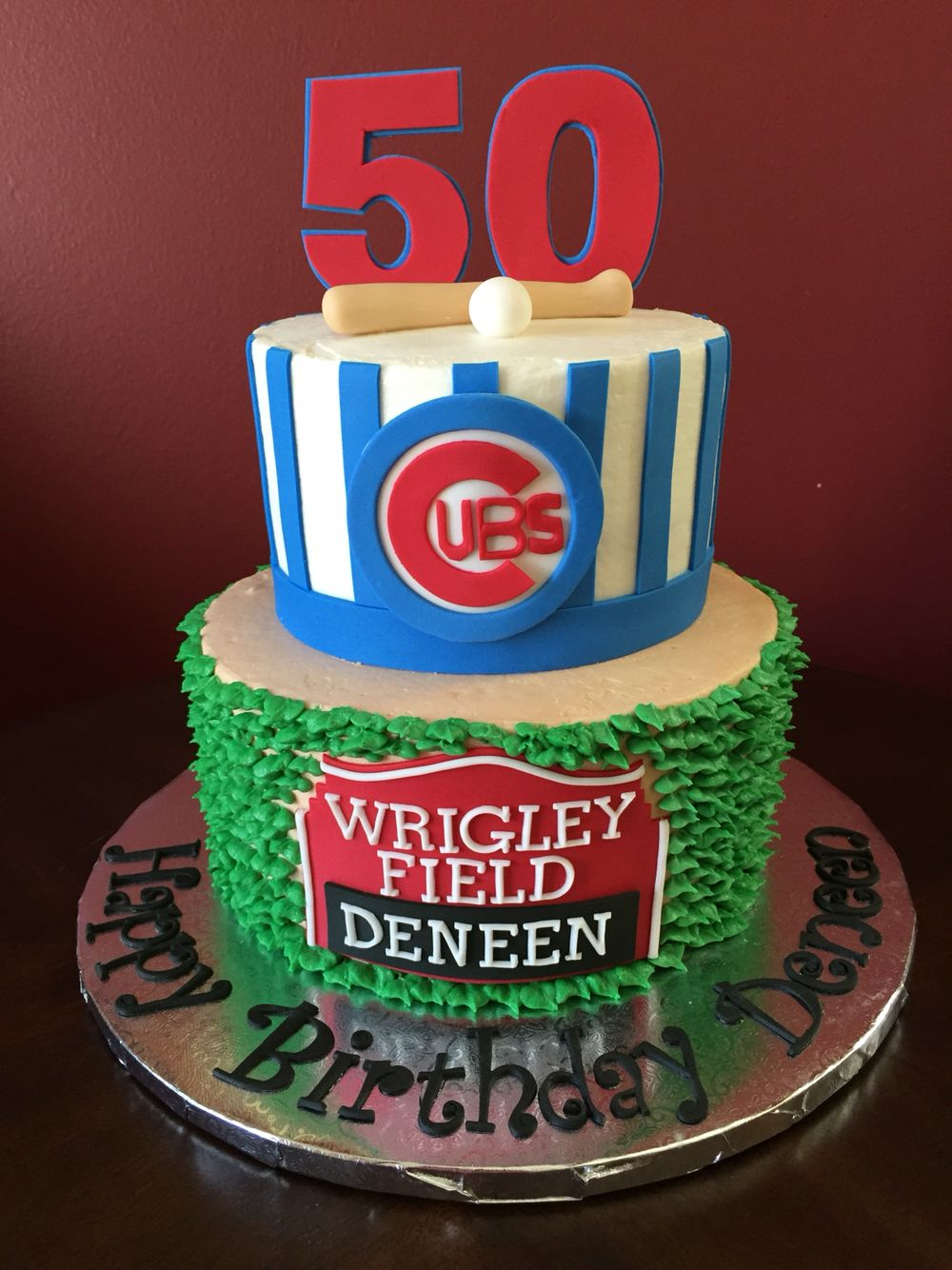 Chicago Cubs Birthday Cake Toppers 40th Cakes 30th Parties