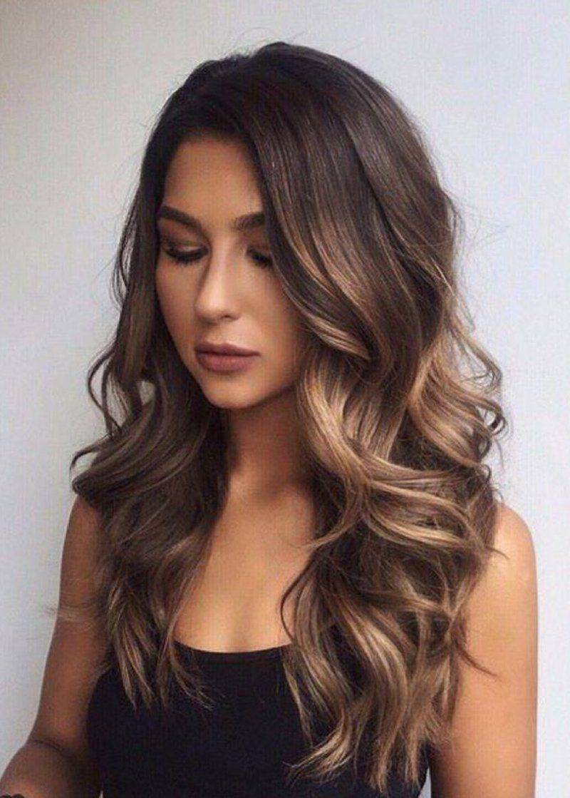 Women Capless Loose Wave Synthetic Hair 26 Inches Wig Shoulderlengthbrunettehair Coiffure Cheveux Long Coiffure Cheveux Laches Idee Couleur Cheveux