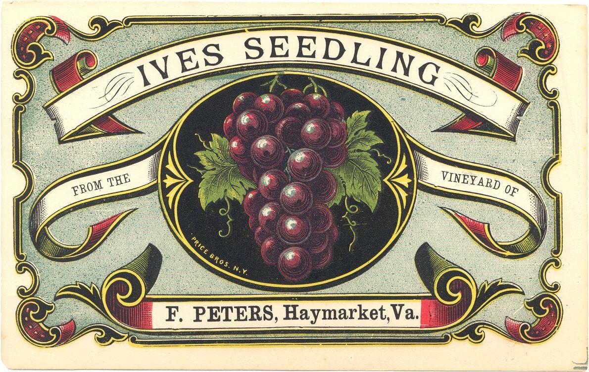 F Peters Wine Label Vintage Labels Vintage Packaging Wine Label Color