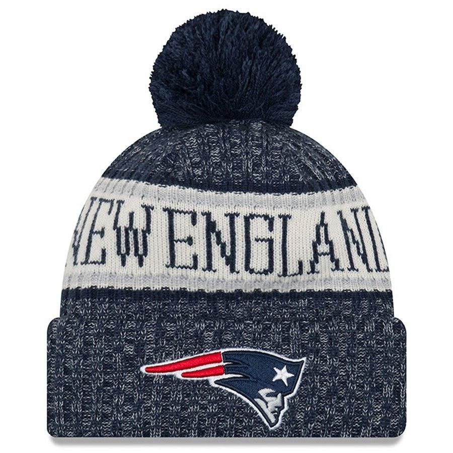 Men S New England Patriots New Era Navy Nfl18 Sideline Cold Weather Official Sport Knit Hat With Images New England Patriots Apparel New England Patriots New England Patriots Merchandise