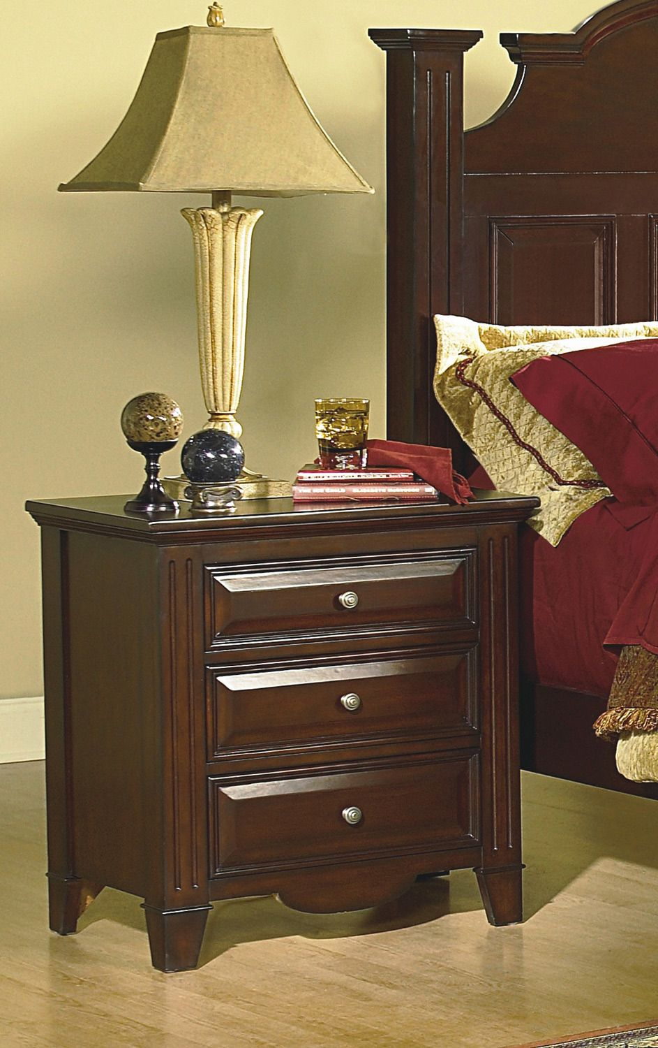 Drayton Hall Night Stand | New Classic Furniture | Home Gallery Stores
