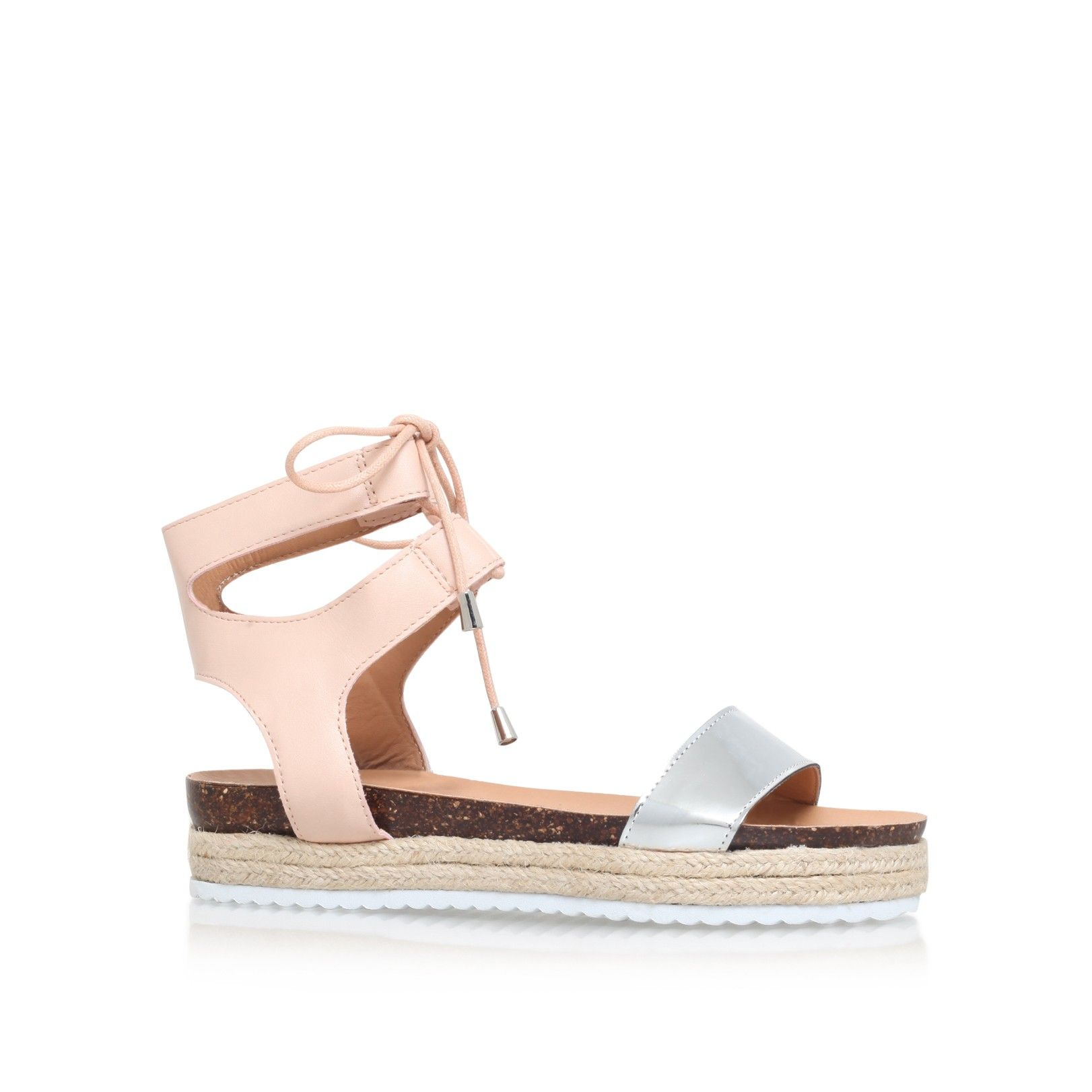 peony nude flat sandals from Miss KG