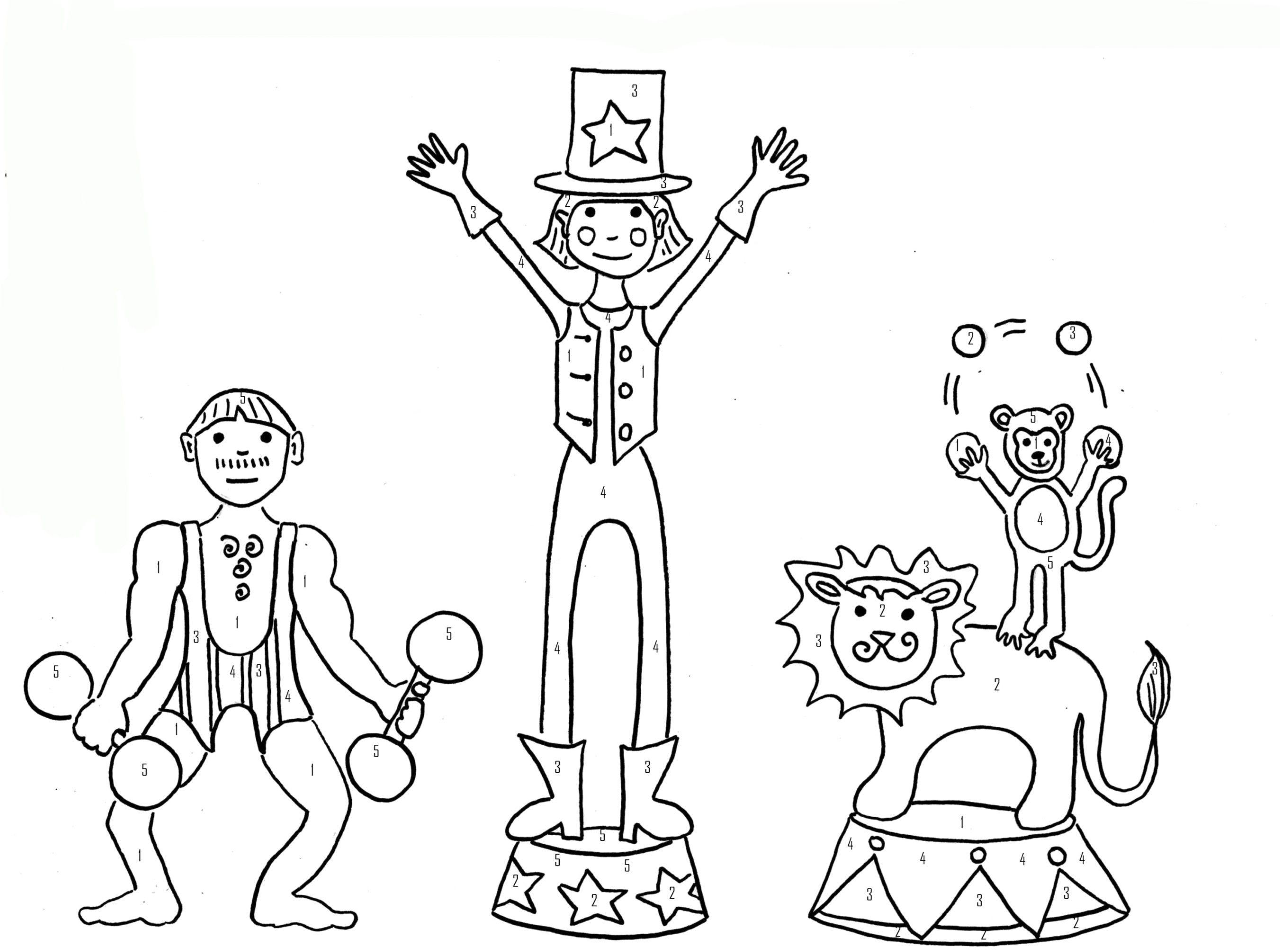 ausmalbild zirkus  Ausmalbilder, Clown gesichter, Ausmalen