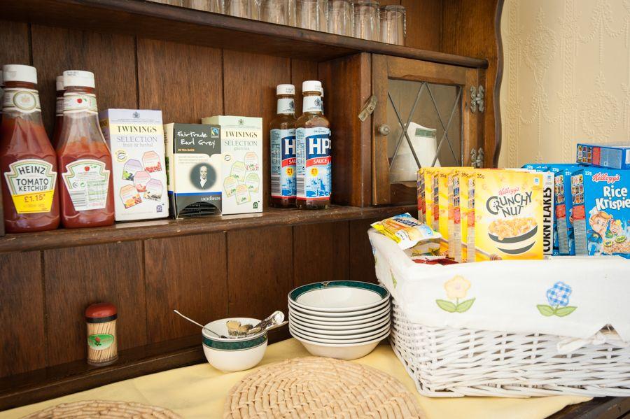 Breakfast at The Glascoed Hotel, Llandudno, Conwy, Wales.