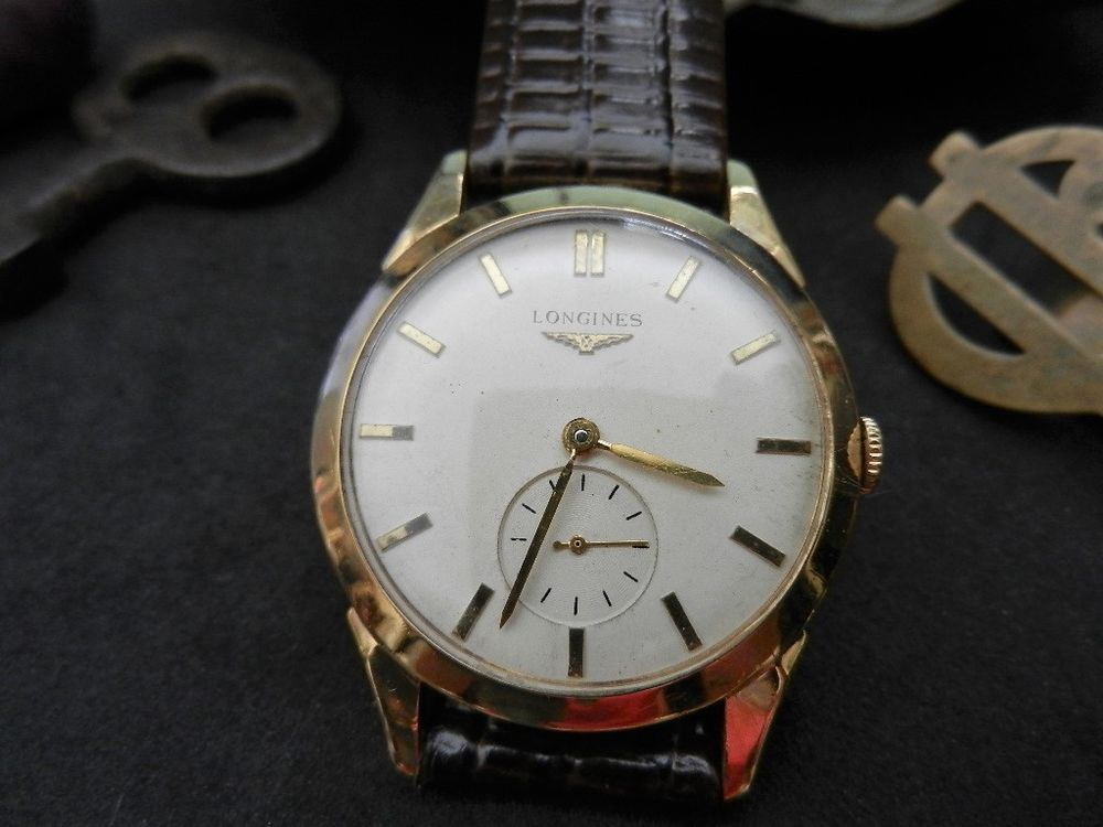 longines 10k gold filled d a 232 winding men s watch 1952 w oem longines 10k gold filled d a winding men s watch 1960s w oem buckle leather