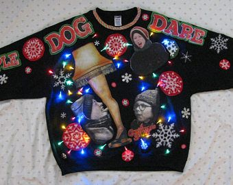 ralphie light up ugly christmas sweater a christmas story ugly christmas sweater christmas story