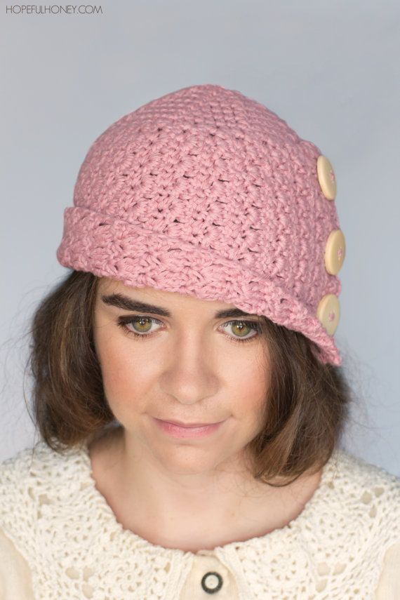 CROCHET PATTERN Rosebud Cloche Hat 1920\'s por HopefulHoneyDesigns ...
